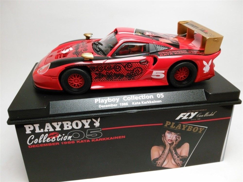 Coche de Scalextric Fly Porsche 911 GT1 Playboy Collection 1988 Compatible 1/32