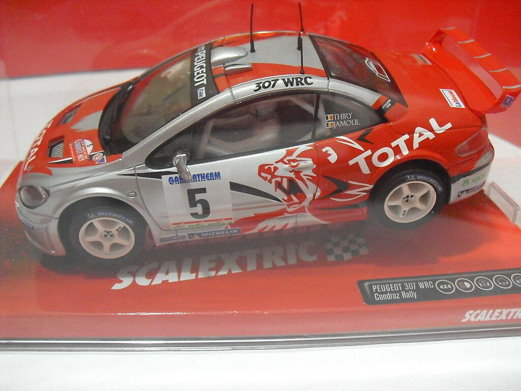 FUERA STOCK SCX 6451 PEUGEOT 307 WRC TOTAL Scalextric (Tecnitoys) New 1/32