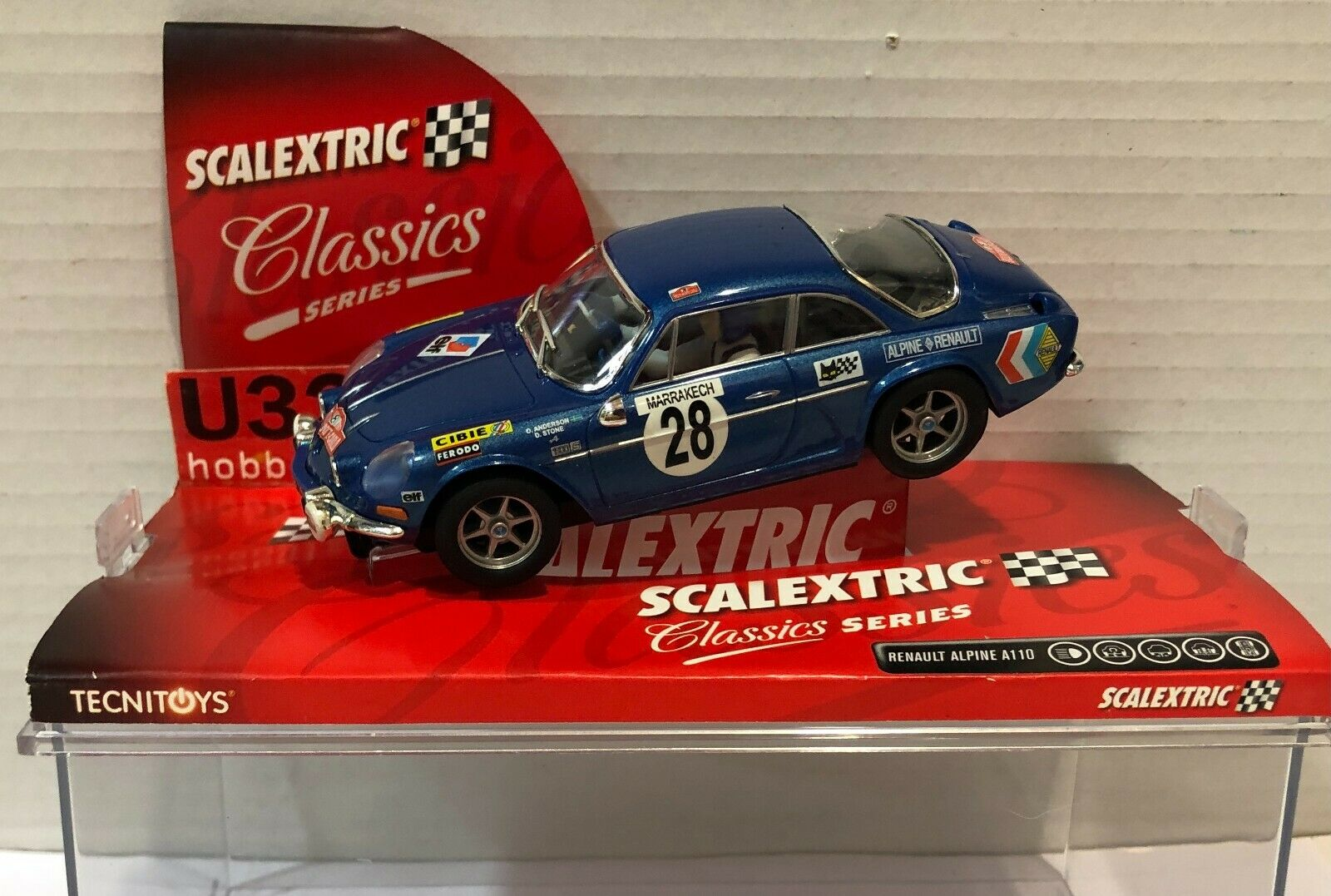 SCALEXTRIC 6259 RENAULT ALPINE A110 #28 RALLY MONTE CARLO 1971 O.ANDERSON-STONE
