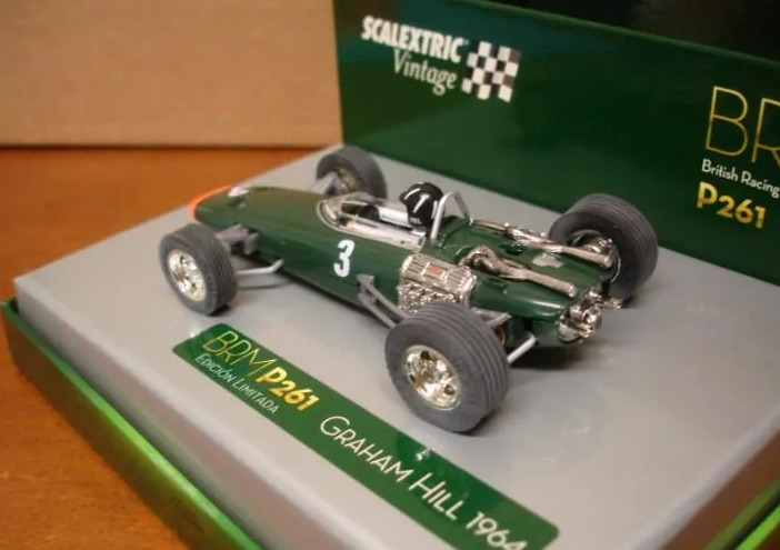 """Scalextric BRM F1-P261 """"VINTAGE"""" Graham Hill 1/32 New"""