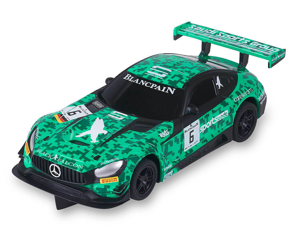SCALEXTRIC COMPACT MERCEDES AMG GT3 #6 GREEN SPORT CODE BLANCPAIN SCX C10309S300