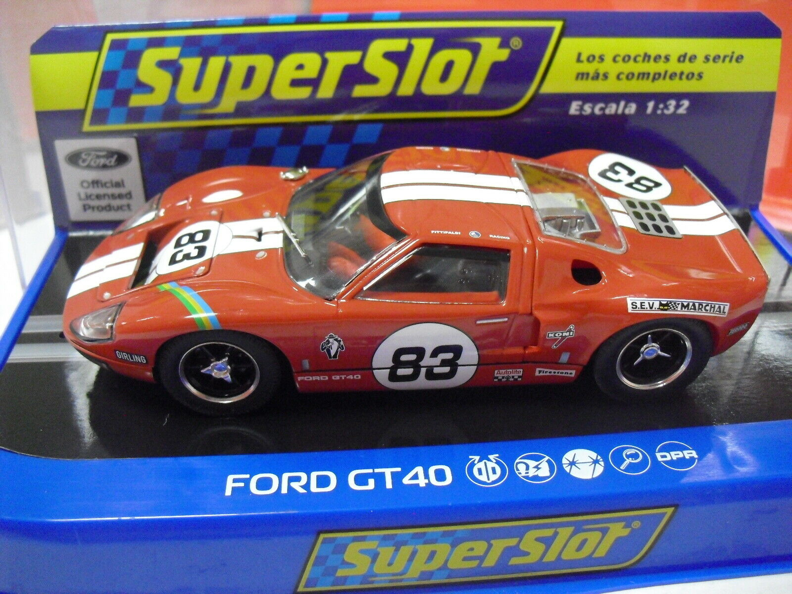 """Slot SCX Scalextric Superslot H4152 Ford GT40 #83 Red """"Fittipaldi Racing"""""""